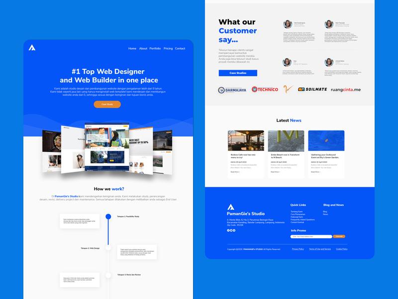 PamanGie's Studio — Landing Page ux ui web designer website landing page design web design landing page