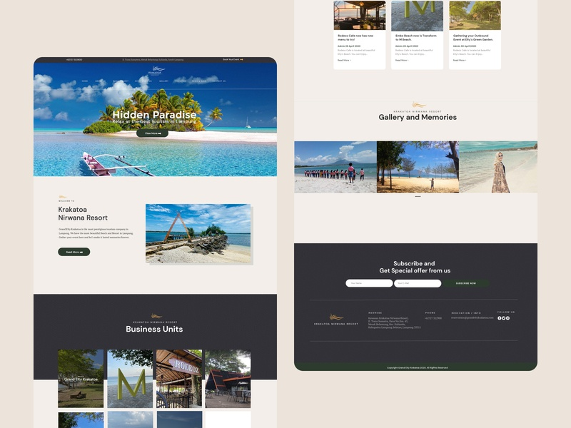 Krakatoa Nirwana Resort — Landing Page design web designer website web design ux ui landing page design landing page