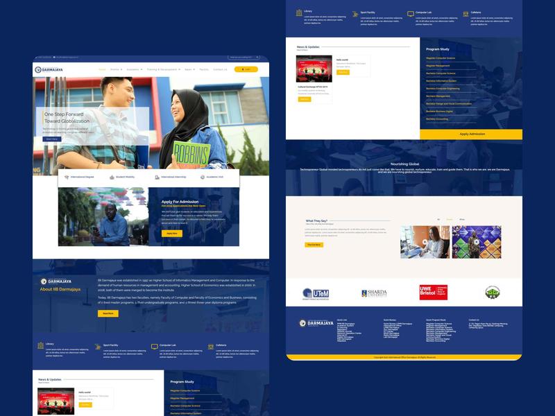 Institut Informatics and Business Darmajaya — Landing Page flat web design website web designer web design ux ui landing page design landing page