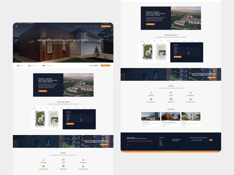 Winnie Property — Landing Page website web designer web design ux ui landing page design landing page