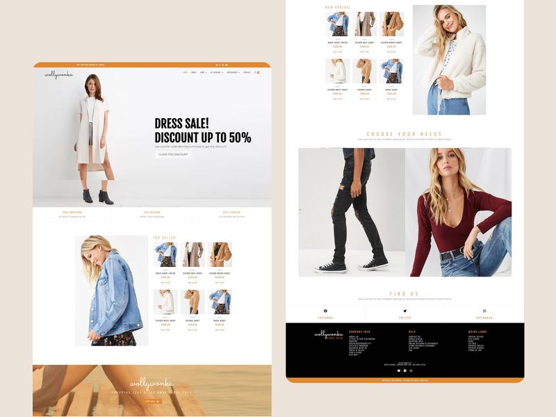 Wollywonka — Landing Page web flat design website web designer web design ux ui landing page design landing page