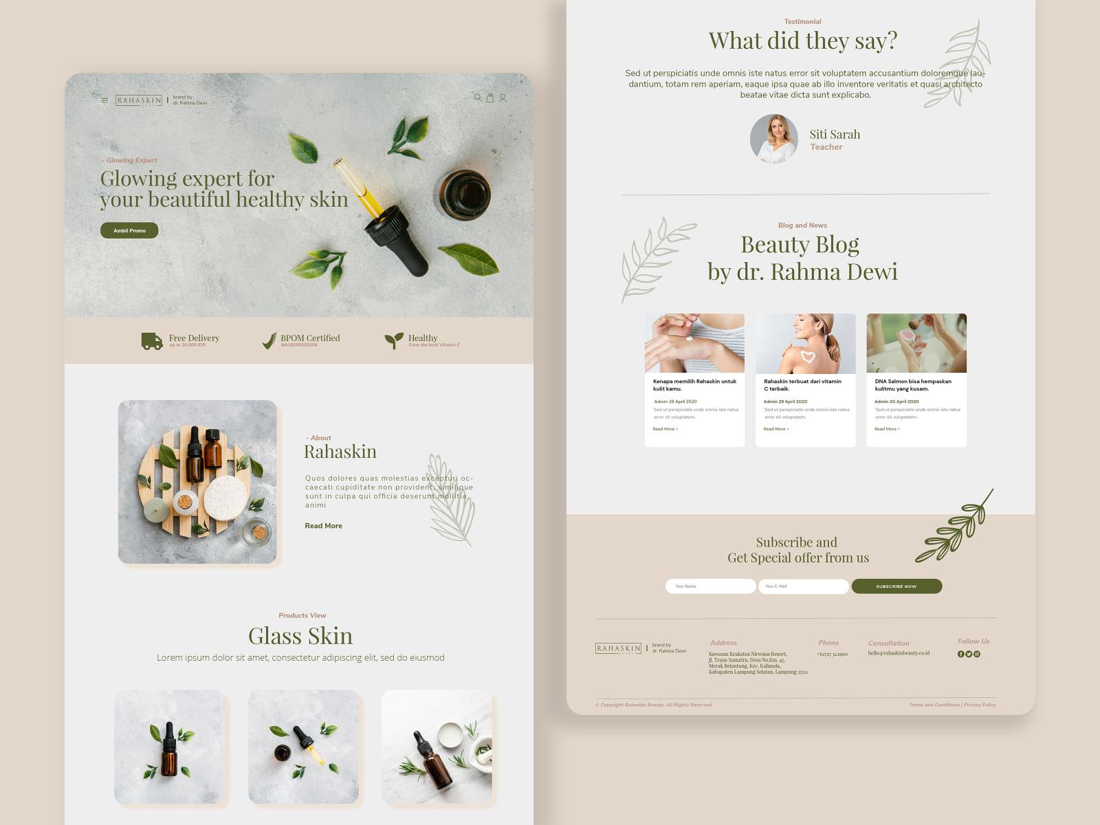 Rahaskin Beauty Skincare E Commerce By Anggi Andriyadi On Dribbble