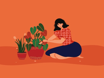 Seed of Hope artwork art illustrator character vectorartwork plantillustration plant vector illustration vectorart vector womanillustration patterndesign indianwoman graphicdesign digitalart woman characterdesign digitalillustration characterillustration illustration