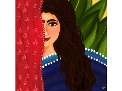 Hidden Soul indianartist india wacom tablet digitaldrawing digitalpaiting photoshop womanillustration woman indianwoman graphicdesign illustration digitalillustration character characterdesign digitalart characterillustration indinaart