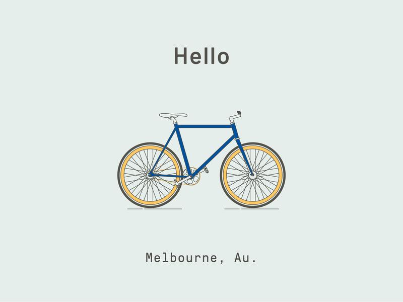 Melbourne fixie melbourne bike ride bicycle illustration illustrator cc bike