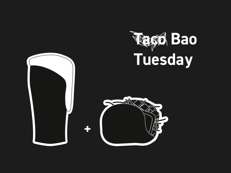 Beer 'N' Bao beer drink food bar restaurant vector design branding daily 100 dailies illustration