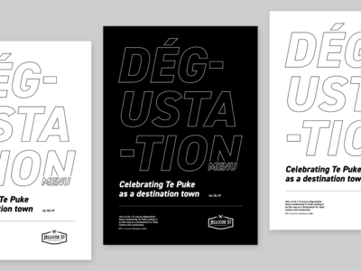 Dégustation Typography Poster V01 typography poster typography posters catering food din bw minimal poster