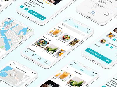 Food ordering app case study ux mockup branding ui design figma
