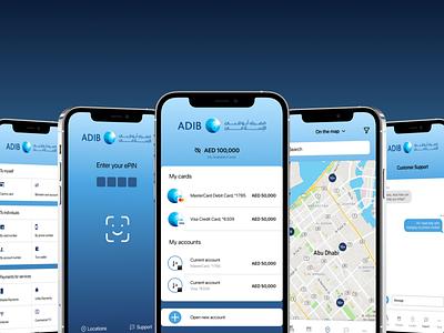 Banking mobile app redesign - UI/UX design figma mockup ui uiux uidesign ui ux