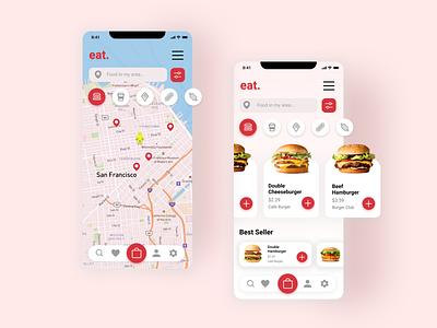 Food ordering mobile app design mobileapp ux mobile app ui ux uiux mockup design ui figma