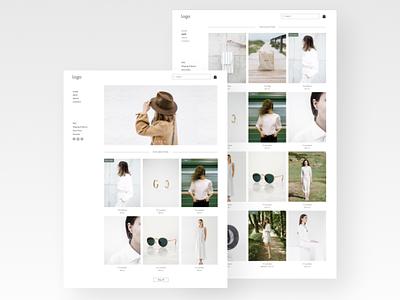Online store website template design website web ui ux web design uiux mockup design ui figma