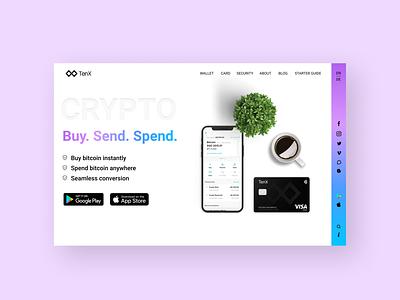 Crypto agency website design website web ui ux web design mockup uiux design ui figma