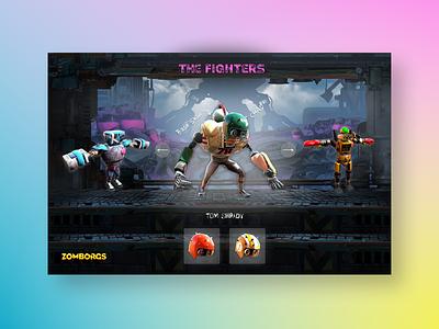 Zomborgs game website design web design ui ux design mockup uiux ui figma