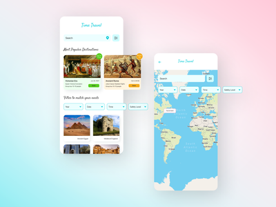Time travel mobile app design mobile app app design ui ux design mockup uiux ui figma