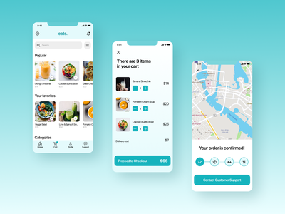 Food ordering mobile app design mobile app app design ui ux design mockup uiux ui figma
