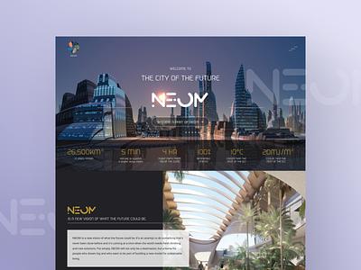 NEOM The City of the Future Website Redesign - UI/UX web design ui ux design mockup uiux ui figma