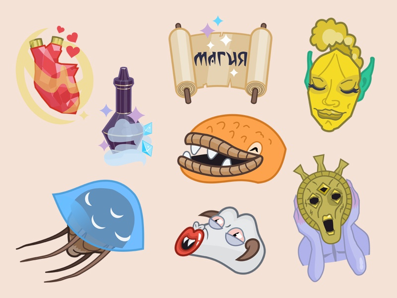 Morrowind sticker pack by Constantine Rafikov on Dribbble