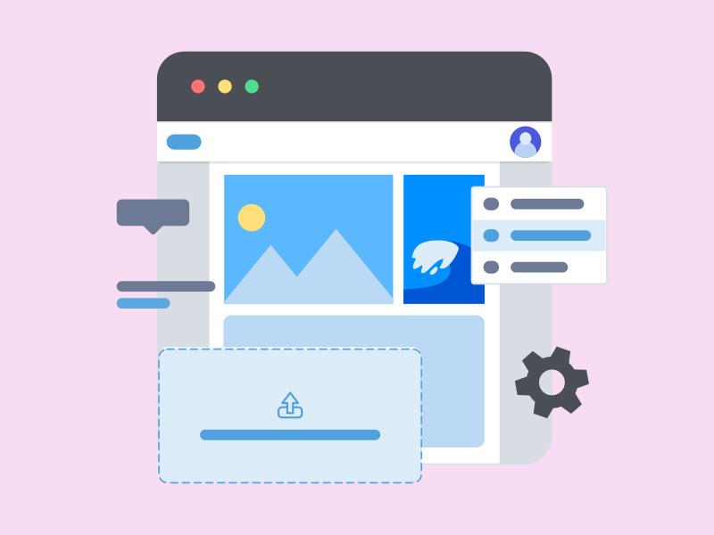Website elements ui markup layout flat illustration