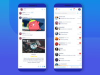 Plaify chats UI on smartphone