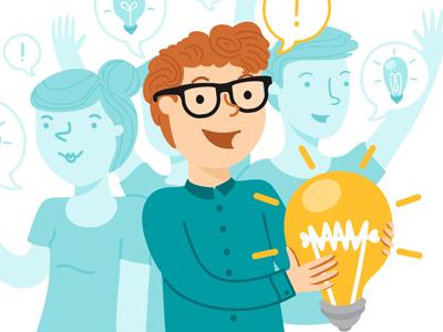 Best Idea illustration microsoft idea characters