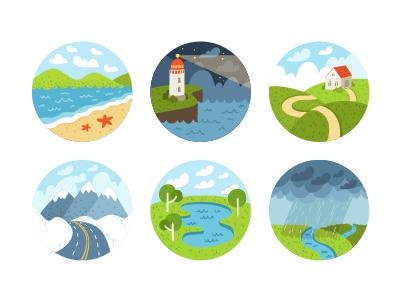 Little Landscapes landscape flat nature illustration