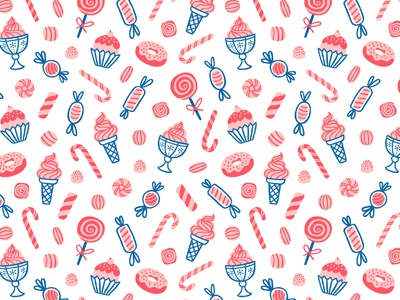 Sweets pattern sweets illustration food candy texture