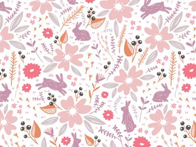 Bunny pattern bunny pattern floral background stolenpencil
