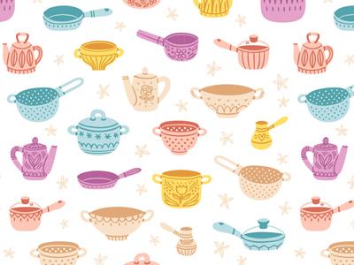 Kitchenware colorful pattern kitchenware