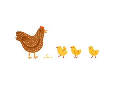 Chicks animals stolenpencil chicken illustrations