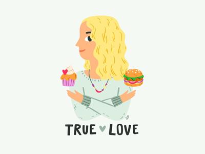 True Love character food true love illustration stolenpencil