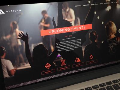 Client Site Design client antioch norman web site website icons iconography symbols orange triangle logo