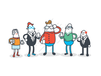 Characters created for a Marketing Site