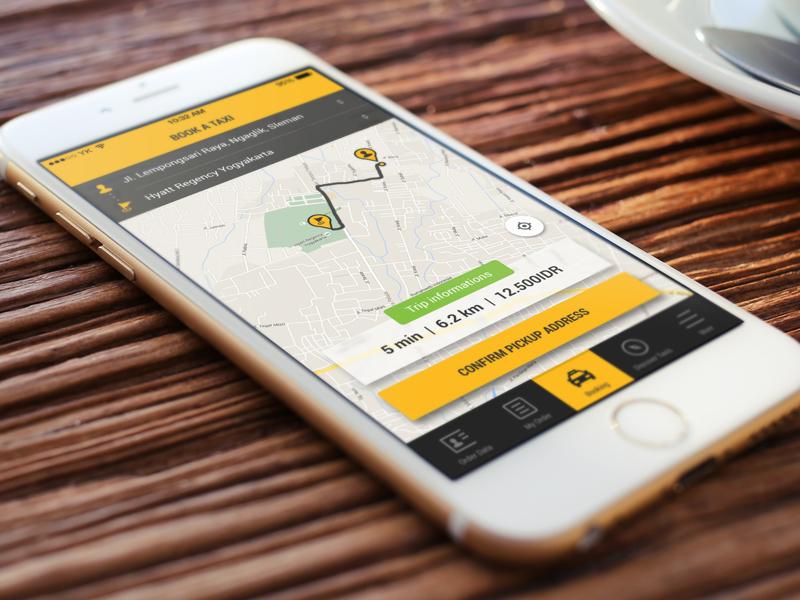 Order a taxi app order transportation taxi flat ios