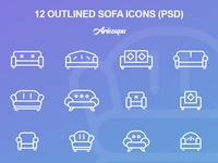 Outlined Sofa Icons