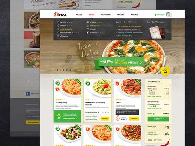 Chili pizza website website ui ux eshop e-commerce food ordering restaurant pizza photos web grid deals