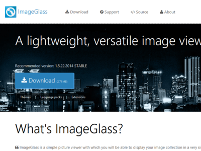 Imageglass website imageglass web design flat design responsive