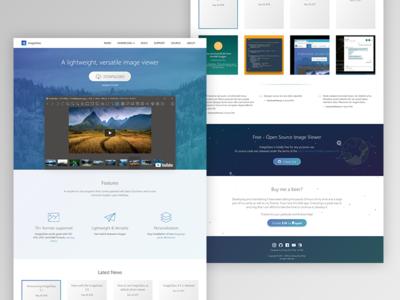 ImageGlass website v5 flat design gradient web fluent effect fluent design flat ui website software landing page