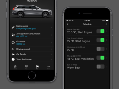 Volvo On Call design app iphone ux ui volvo