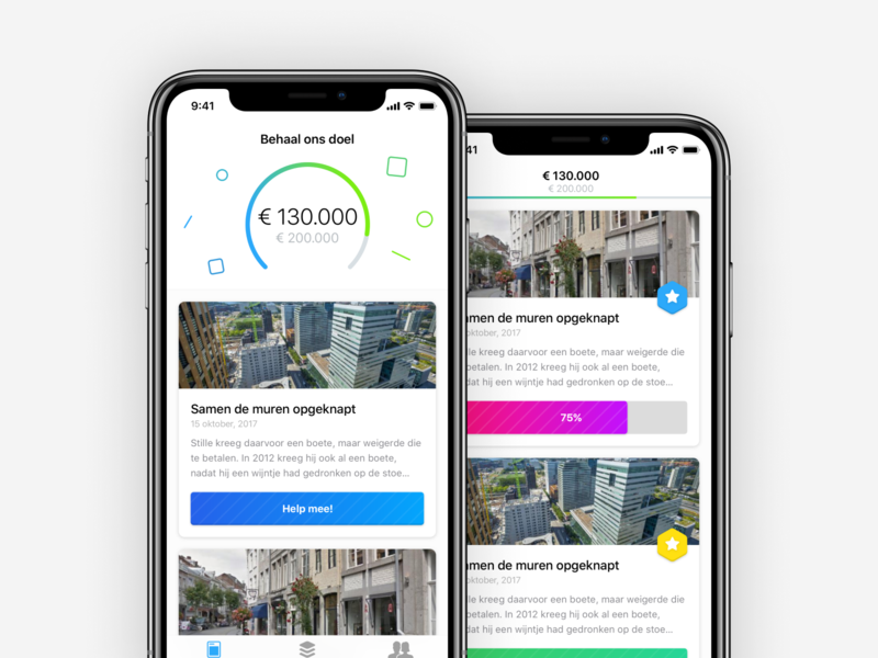 Behaal Ons Doel design ux ios iphone app ui