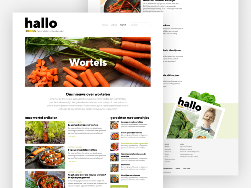 Hallo Jumbo clean website design web