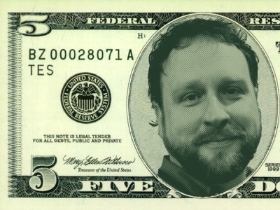 5 Dollar Mike silly money graphic design abe lincoln