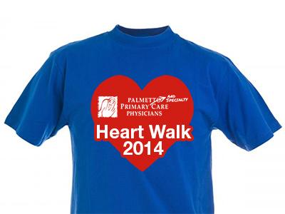 PPSCP Heart Walk 2014 t-shirt plain