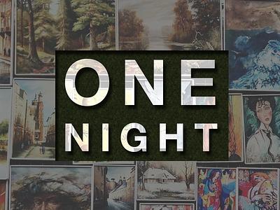 One Night (Album Art) album art music graphic design cover