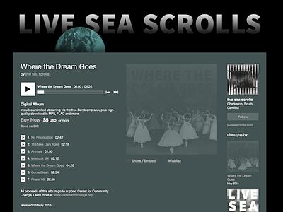 Live Sea Scrolls Bandcamp graphic design web design layout bandcamp