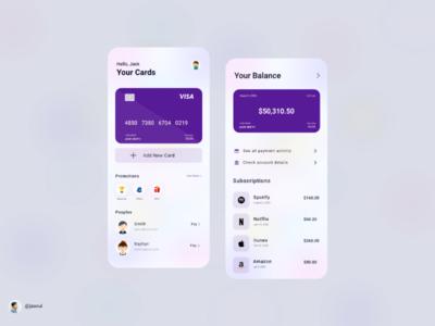 Banking App design concept bankingapp appdesign uiux
