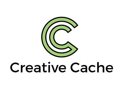 Creative Cache Logo logo design creative cache wordmark green design cc logo creative