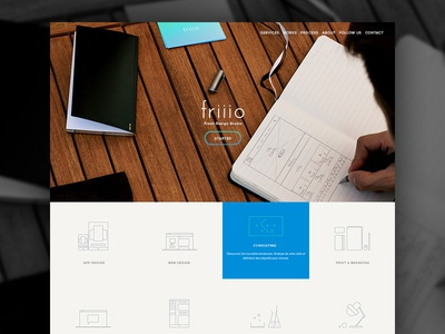 Friiio Website friiio studio startup website landing page design lab france agency rennes