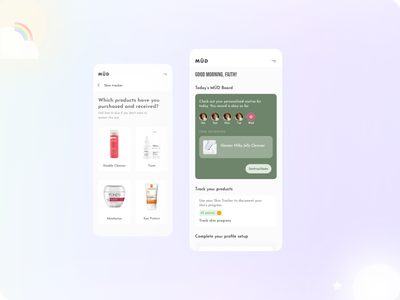 MÜD - Personalized recommendation data science icon ux branding uiux ui skin skincare beauty product beauty