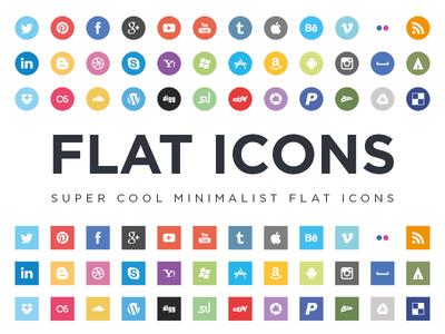 Flat Icons EPS icons icon flat flat icons social icons social minimal