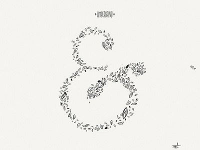 Paper Book: Ampersand illustration paper 53 minimalist ink lettering leaves typography indie